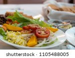 vegetable salad on the table ...   Shutterstock . vector #1105488005
