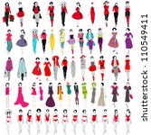 large set of hand drawn style... | Shutterstock . vector #110549411