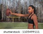 beautiful young woman... | Shutterstock . vector #1105499111