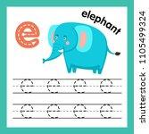 alphabet e exercise with...   Shutterstock .eps vector #1105499324