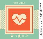 heart medical icon | Shutterstock .eps vector #1105503767