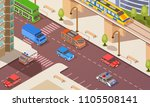 isometric concept with... | Shutterstock .eps vector #1105508141