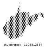 hex tile west virginia state... | Shutterstock .eps vector #1105512554