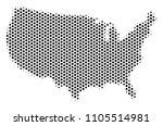 honeycomb usa map. vector... | Shutterstock .eps vector #1105514981