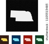 map of nebraska   Shutterstock .eps vector #1105515485