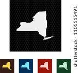map of new york   Shutterstock .eps vector #1105515491