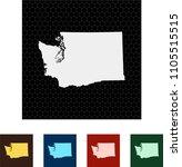 map of washington   Shutterstock .eps vector #1105515515