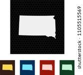 map of south dakota   Shutterstock .eps vector #1105515569