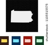 map of pennsylvania   Shutterstock .eps vector #1105515575