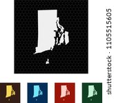 map of rhode island   Shutterstock .eps vector #1105515605