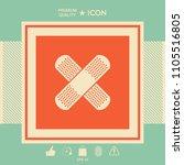 cross adhesive bandage  medical ... | Shutterstock .eps vector #1105516805