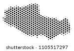 hex pixel tibet chinese... | Shutterstock .eps vector #1105517297