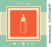 baby feeding bottle icon | Shutterstock .eps vector #1105518659
