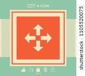 move icon symbol   Shutterstock .eps vector #1105520075