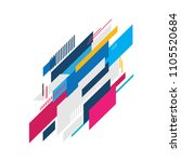 abstract modern geometric... | Shutterstock .eps vector #1105520684