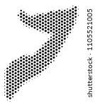 hexagonal somalia map. vector... | Shutterstock .eps vector #1105521005