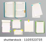 diary and message notes vector... | Shutterstock .eps vector #1105523735