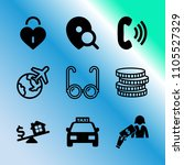 vector icon set about business...   Shutterstock .eps vector #1105527329