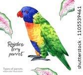 watercolor illustration....   Shutterstock . vector #1105539461