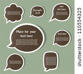 speech bubbles | Shutterstock .eps vector #110554325