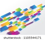 abstract geometric shape... | Shutterstock .eps vector #1105544171