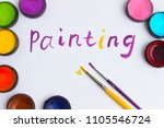 """the text """"painting"""" is written... 