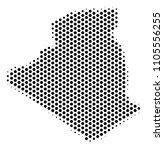 honeycomb algeria map. vector... | Shutterstock .eps vector #1105556255