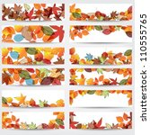vector large set of colorful ... | Shutterstock .eps vector #110555765