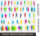 vector set of colorful abstract ... | Shutterstock .eps vector #110555795