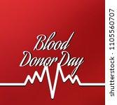 illustration of donate blood...   Shutterstock . vector #1105560707
