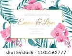 wedding marriage event... | Shutterstock .eps vector #1105562777