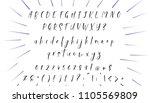 handwritten calligraphy font.... | Shutterstock .eps vector #1105569809