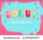 sweet donut background with... | Shutterstock .eps vector #1105569947