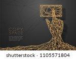 hand touch screen smartphone...   Shutterstock .eps vector #1105571804
