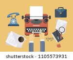 concept idea equipments and... | Shutterstock .eps vector #1105573931