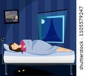 monster under the bed | Shutterstock .eps vector #1105579247