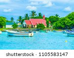 view of red church at cap... | Shutterstock . vector #1105583147