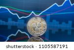 ripple  xrp  and cryptocurrency ... | Shutterstock . vector #1105587191