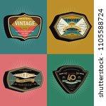 set of  vintage vector label   Shutterstock .eps vector #1105588724