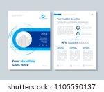 annual report  broshure  flyer  ... | Shutterstock .eps vector #1105590137