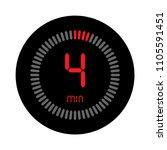the 4 minutes  stopwatch vector ... | Shutterstock .eps vector #1105591451