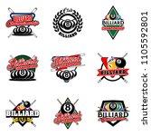 set of billiards badges design... | Shutterstock .eps vector #1105592801