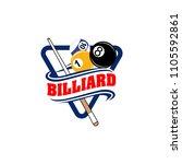 billiards badges design logos... | Shutterstock .eps vector #1105592861
