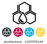 honey drop from bee hive icon... | Shutterstock .eps vector #1105593164