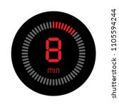 the 8 minutes  stopwatch vector ... | Shutterstock .eps vector #1105594244