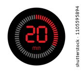 the 20 minutes  stopwatch... | Shutterstock .eps vector #1105595894