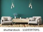 modern interior of living room... | Shutterstock . vector #1105597091