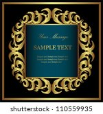 golden card.  vector | Shutterstock .eps vector #110559935