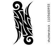 tribal tattoo vector designs... | Shutterstock .eps vector #1105600955