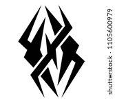 tribal tattoo vector designs... | Shutterstock .eps vector #1105600979